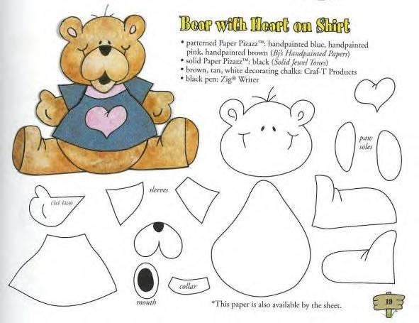 Como se hace un oso en foami - Imagui