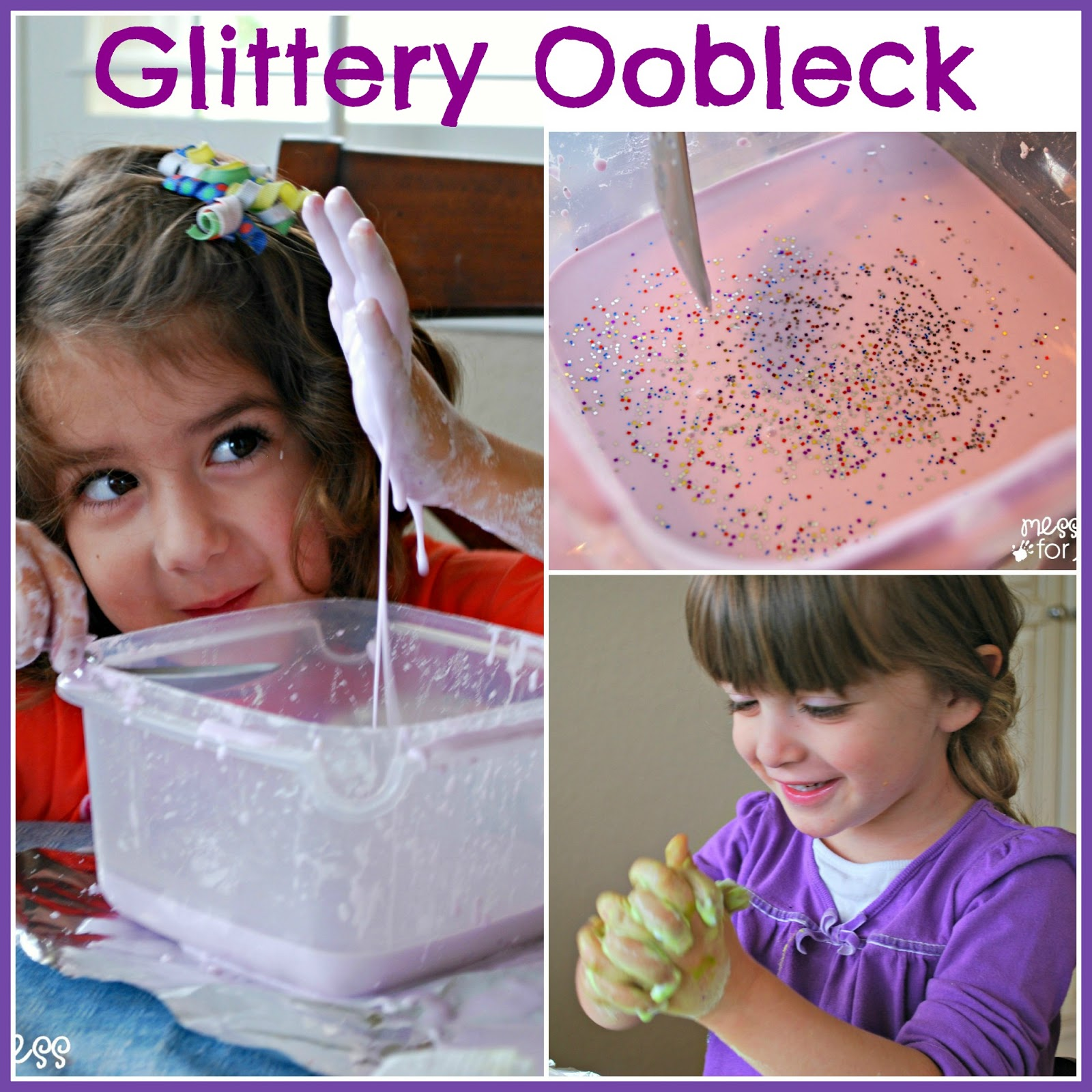 how to make oobleck with cornstarch