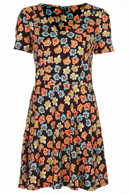 floral topshop dress