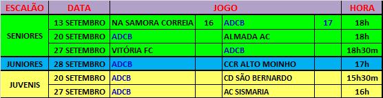 AGENDA - JOGOS OFICIAIS - SETEMBRO 2014