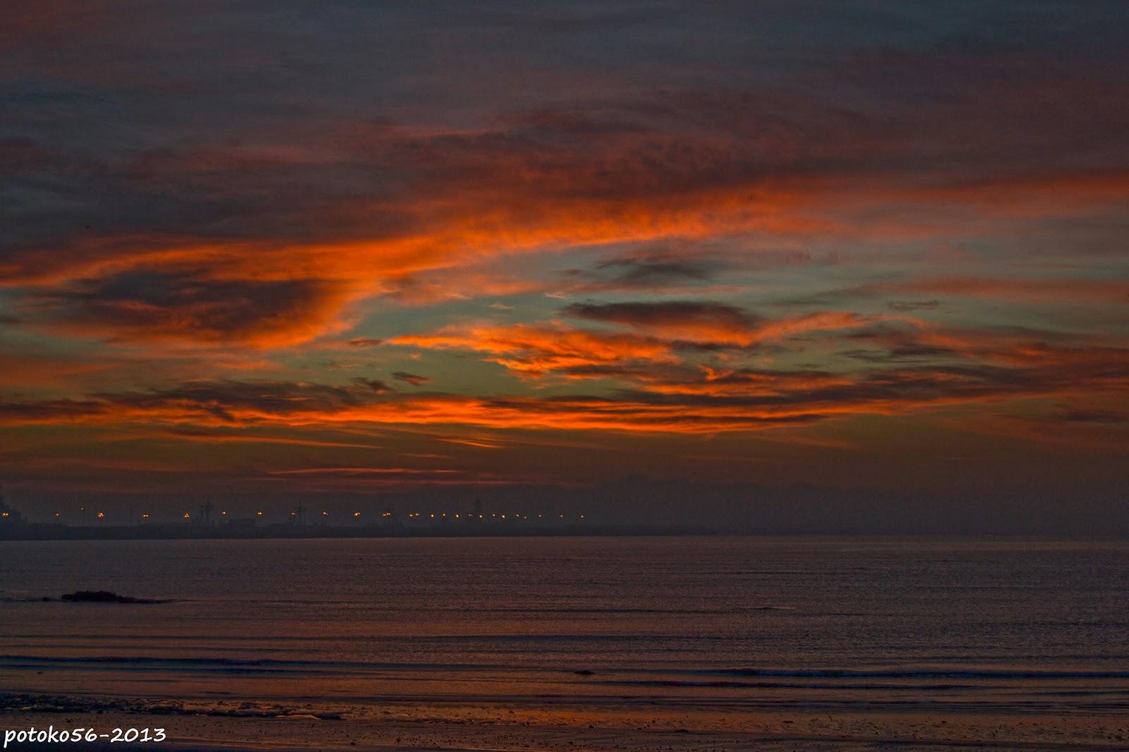 Nubes en el Amanecer de Rota