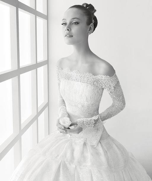 Wedding dress business off the shoulder wedding dresses for Off the shoulder wedding dresses with sleeves