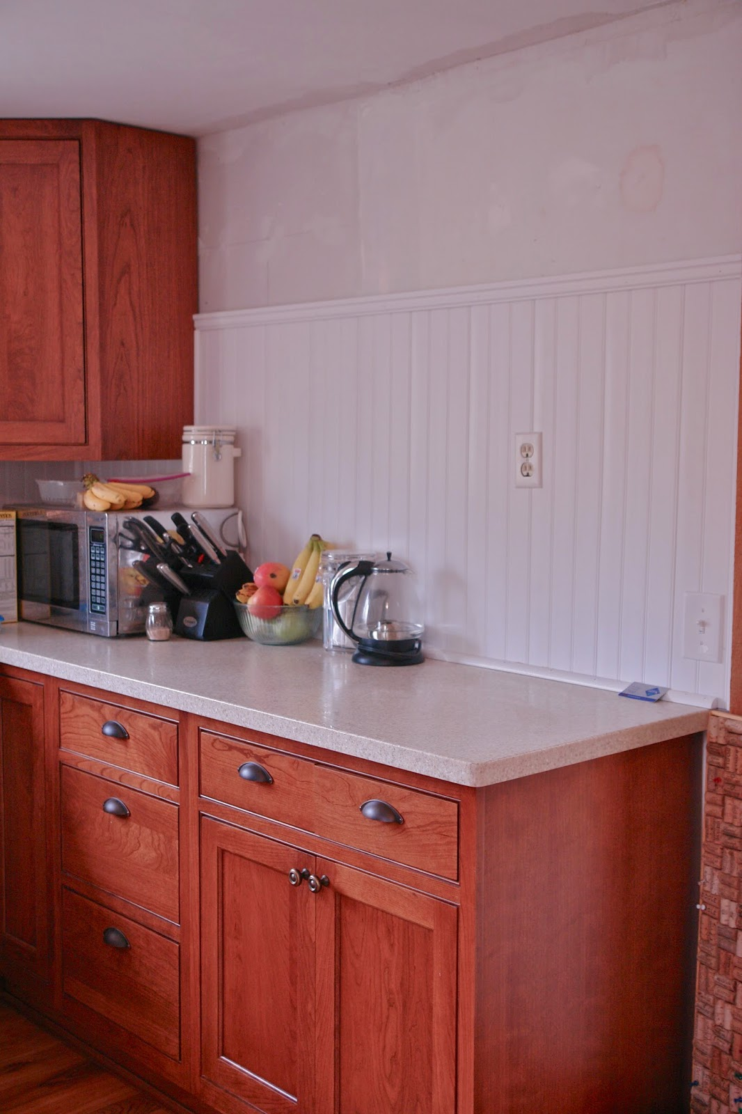 Wainscoting Kitchen Backsplash Redwoodshire Learning To Grow Growing To Learn Installing Pvc