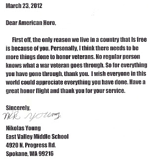 Support Our Troops, Write a Letter