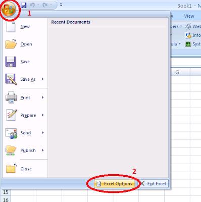 Step1: enable developer tab in excel 2007