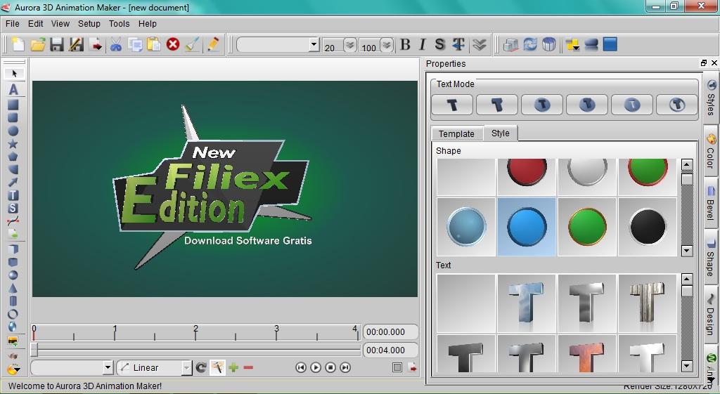 Animal Animation Software Aurora 3d Animation Maker 3 Dengan Keyframe Animasi Software Bingkai