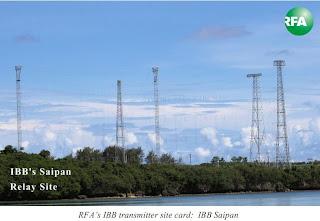 USA:  RADIO FREE ASIA -  QSL IN SERIES IBB SAIPAN QSL CARD  MAY 2013