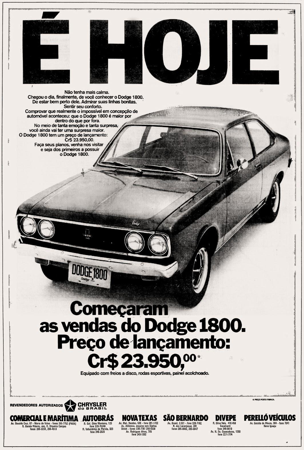 Chrysler. 1973. brazilian advertising cars in the 70. os anos 70. história da década de 70; Brazil in the 70s. propaganda carros anos 70. Oswaldo Hernandez.