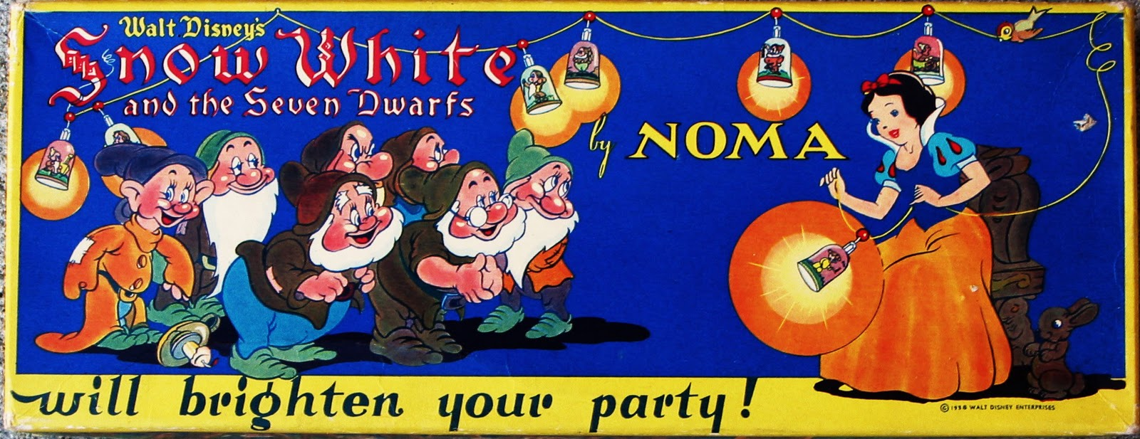 Filmic Light - Snow White Archive: Vintage Snow White Christmas Lights