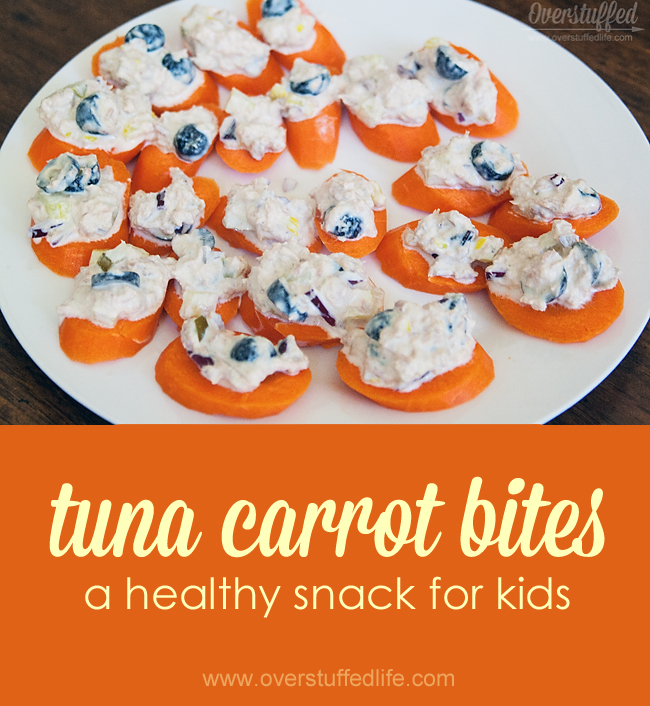 Tuna Carrot Bites: A healthy, easy, and FUN snack for kids. Great for kids that are gluten-free, too!