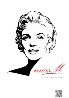 Marilyn Monroe by Kai Karenin, vector illustration