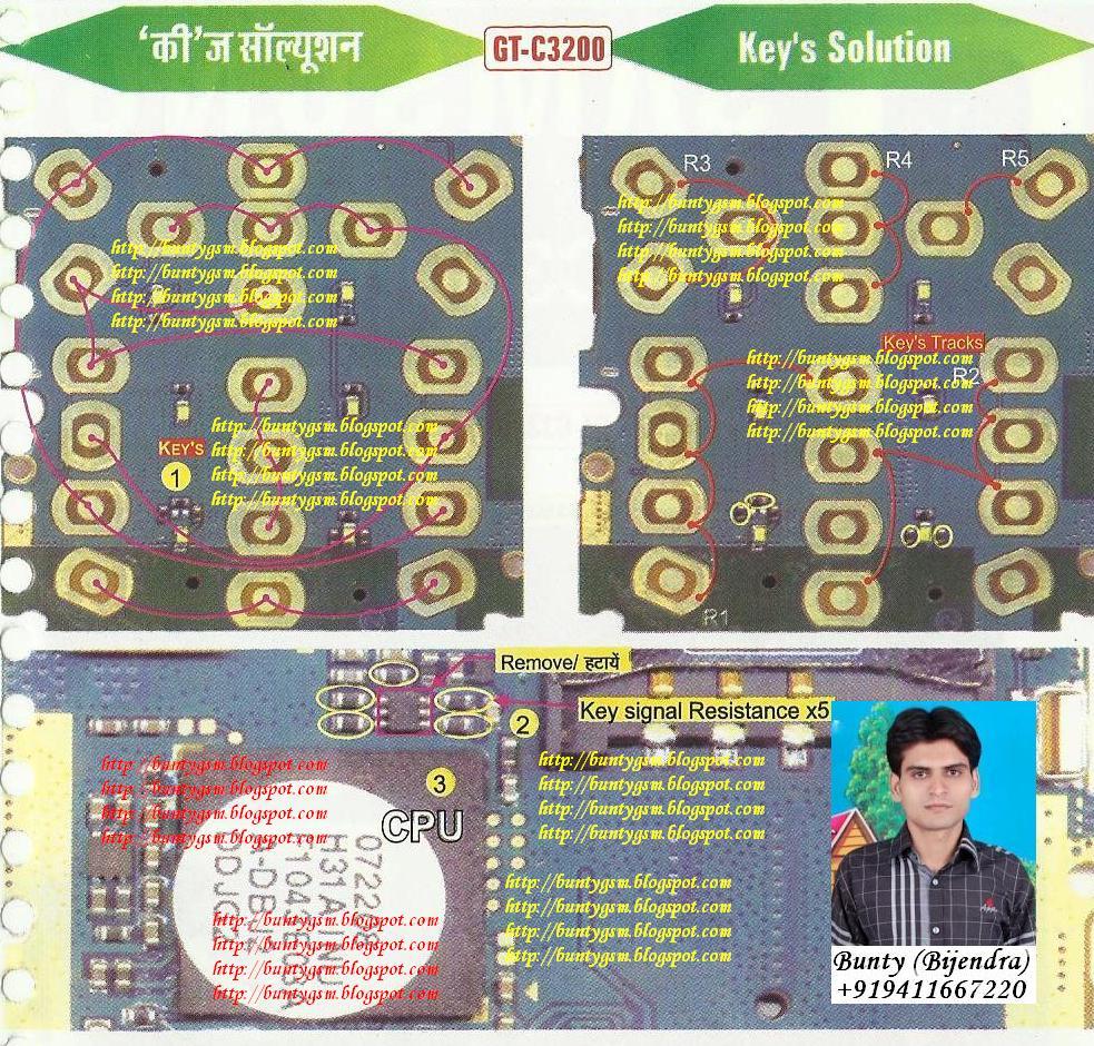 Samsung C3200 Keypad Solution By Buntygsm Mobile Repairing Institute
