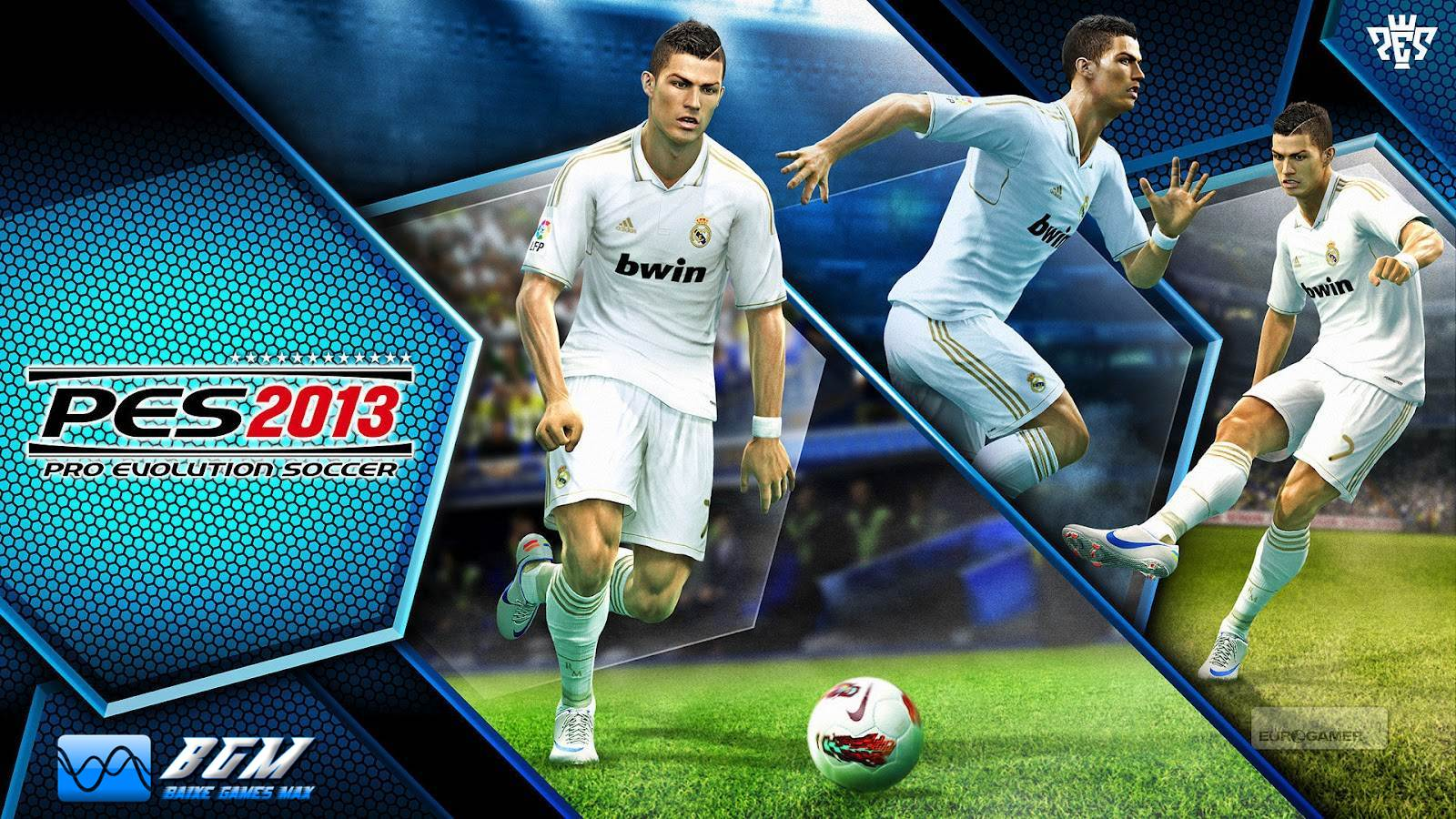 NOVO WALLPAPER DO PRO EVOLUTION SOCCER 2013 COM CRISTIANO RONALDO.