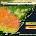 ALERTA | Prob. tormentas puntualmente fuertes y/o severas (Lun 14/12)