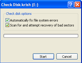 Fix badsectors and file system errors