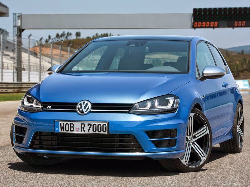 VW Golf R - angulo frontal de 2014 farol de led