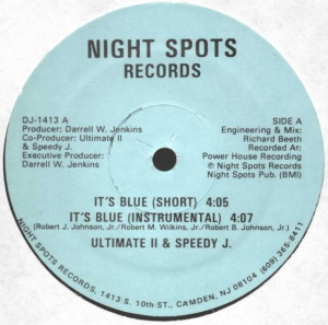 Ultimate II & Speedy J - It's Blue . Vicky Love (Vinyl, 12'' 1986)(Night Spots Records)