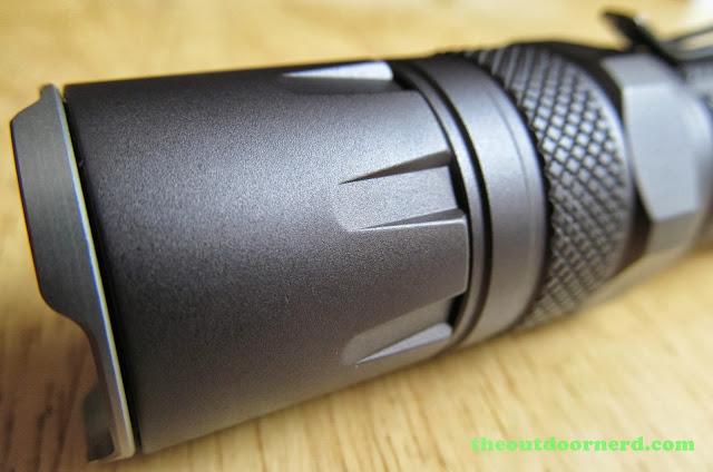 Nitecore SRT3 Defender EDC Flashlight: Closeup Of Bezel