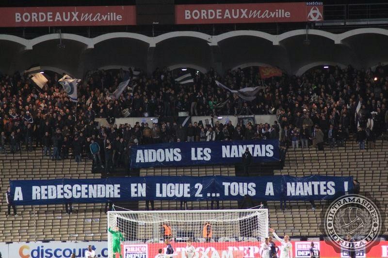 Entre 1.000 et 1.500 supporters girondins à Nantes !