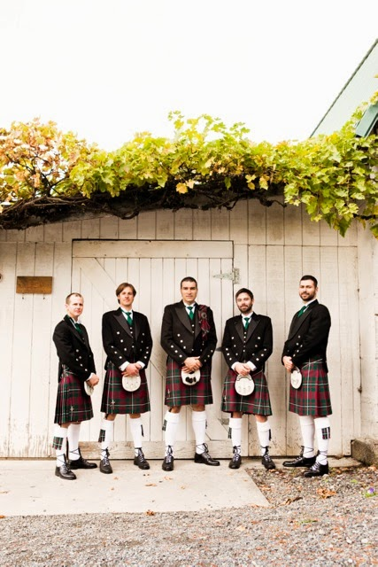 Adam and groomsmen in kilts - Kent Buttars, Seattle Wedding Officiant