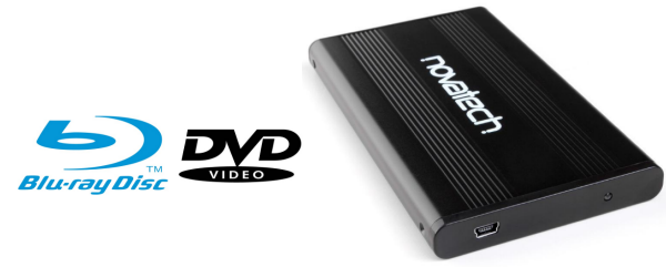 backup blu-ray dvd on external travel drive