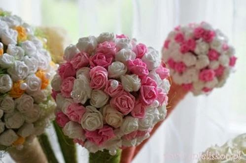 Diy beautiful crepe paper flower ball the idea king 08 jun 2014 mightylinksfo