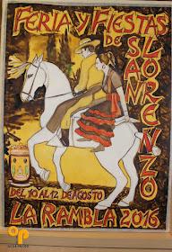 Cartel de la Feria y Fiestas de San Lorenzo de La Rambla 2016
