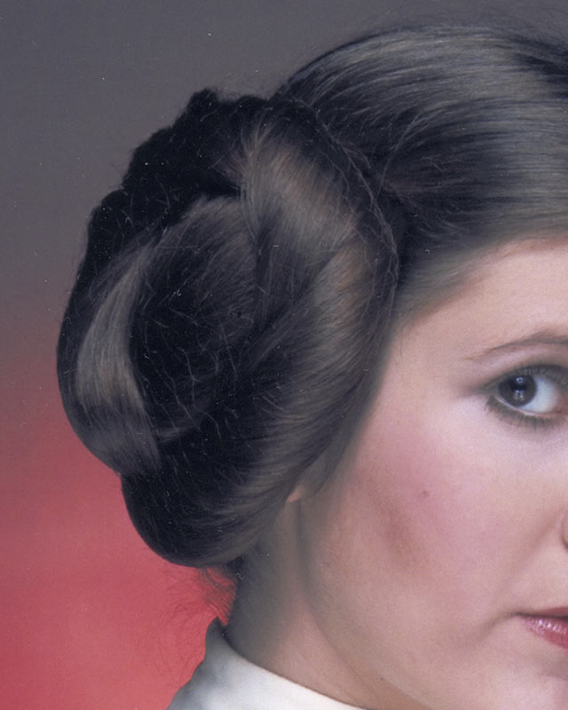 Denim and Dorky Hats: Princess Leia Hair