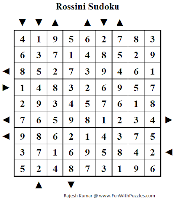 Answer of Rossini Sudoku (Daily Sudoku League #138)