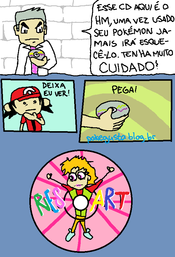 tirinhas no paint pokemon