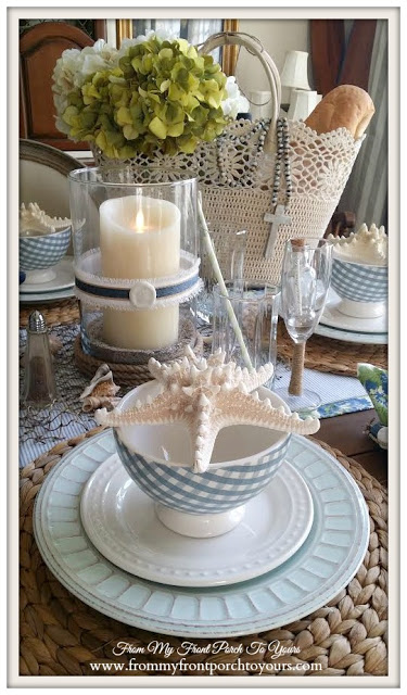 Luminara Candle-Nautical Dining Room- From My Front Porch To Yours
