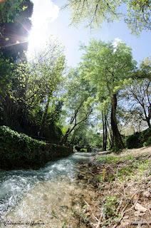 Rio Vadillo a lo largo del Paraje de Las Chorreras