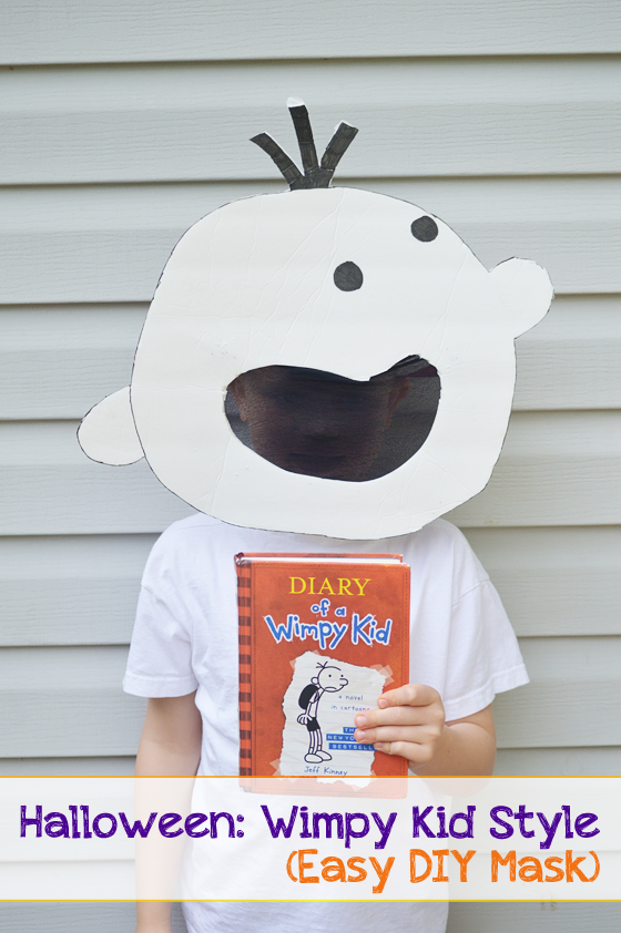 Halloween wimpy kid style easy diy mask a modern day for Diary of a wimpy kid crafts
