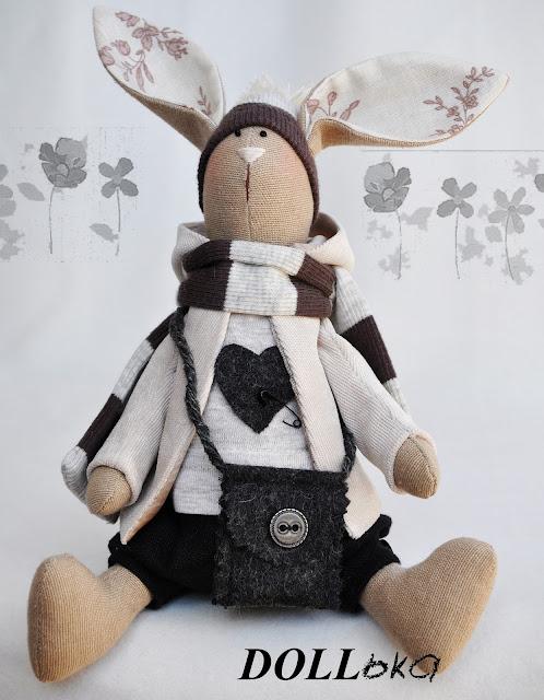 Заяц Макс текстильные игрушки ручной работы