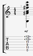 Guitar Chords with harmonics Eadd9