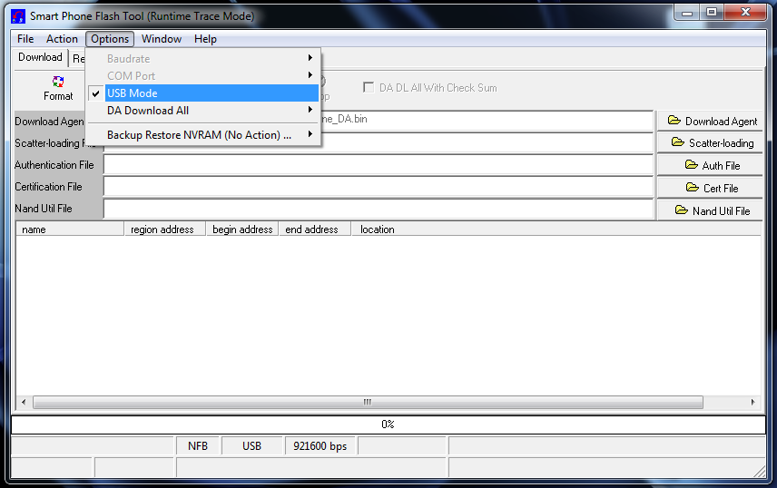 USB VCOM drivers. Now, open SP Flash Tool and make sure you mark USB