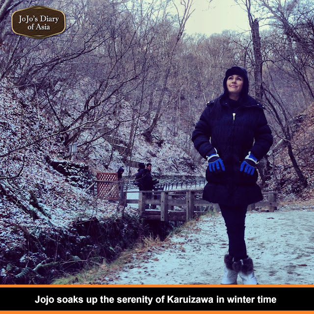 "Jojo soaks up the serenity if Karuizawa in winter time - ""Jojo's Diary of Asia"""