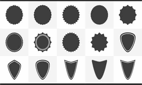 Badges Custom Shapes