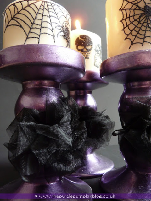 Halloween Candlesticks | The Purple Pumpkin Blog