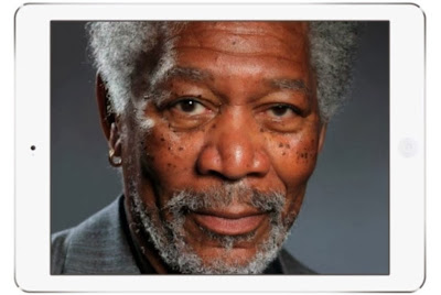 YOU WON'T BELIEVE THIS IPAD FINGERPAINTING OF MORGAN FREEMAN ISN'T A PHOTO [VIDEO]