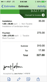 quickbooks online mobile app updates have clients sign invoices