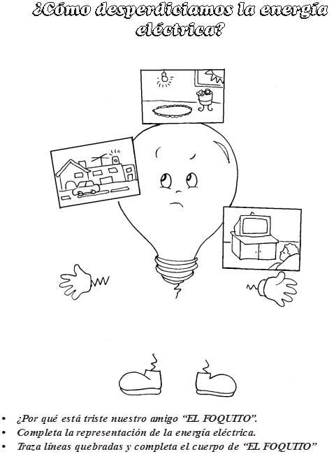 Dibujos Para Colorear De Como Podemos Cuidar La Energia Electrica