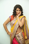 santoshini sharma photos in half saree-thumbnail-12