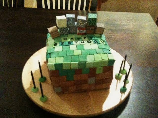 The Kindled Kitchen: Minecraft Cake