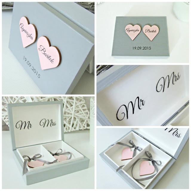 """pudełko na obrączki w romantycznym wydaniu """"Romantic Cold"""" by Eco Manufaktura"""