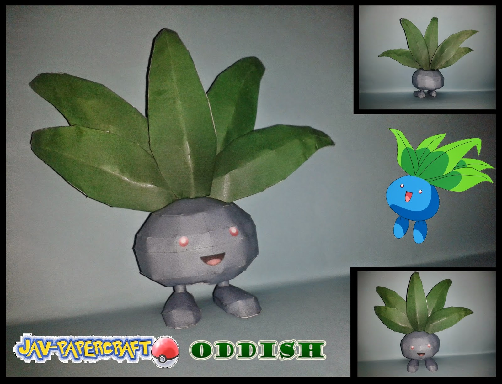 Pokemon Oddish Papercraft