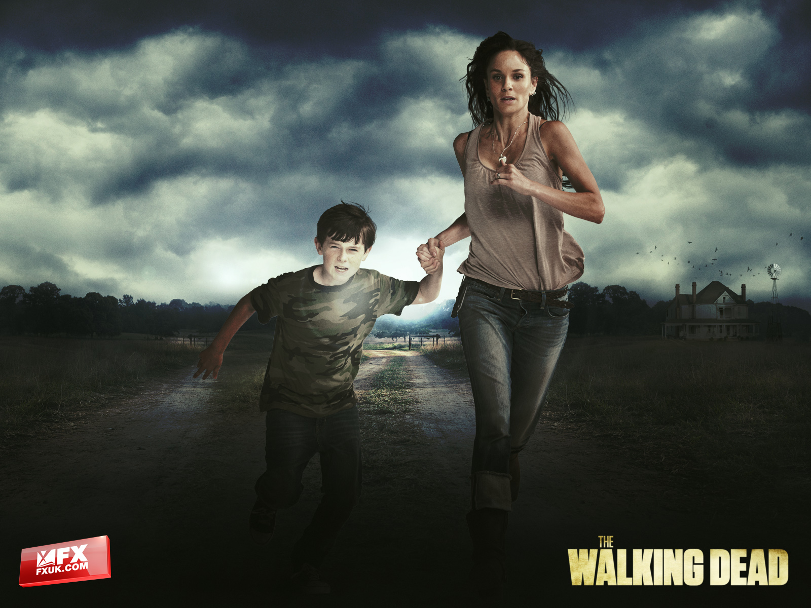 The Walking Dead Duvar Kağıdı 3 (Lori ve Carl)