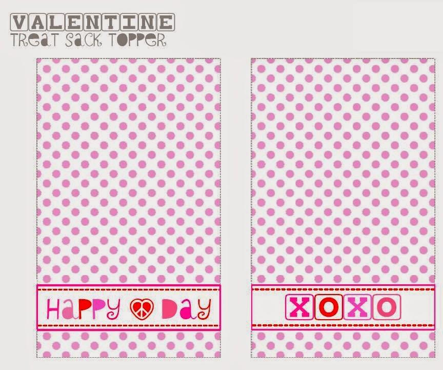 San Valentín: Etiqueta y Toppers de Puntos Rosas para Imprimir ...