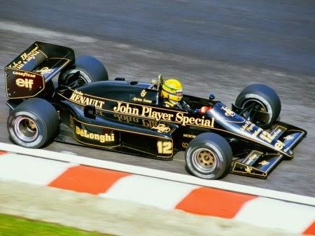 1986 Carro Ayrton Senna Fórmula 1 Lotus