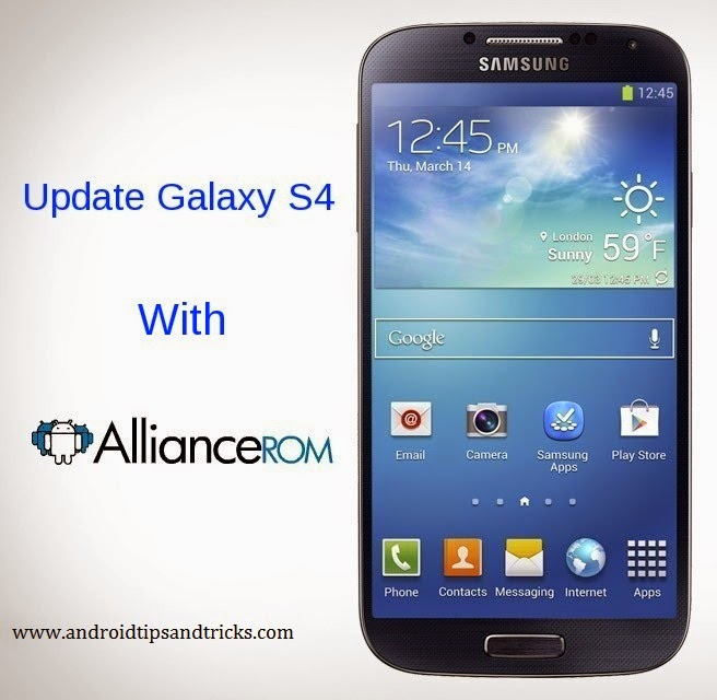 Update Galaxy S4 I9505 With Android 4.4.2 Based AllianceROM